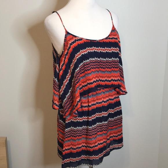 Parker Dresses & Skirts - Parker zig zag cut out silk dress